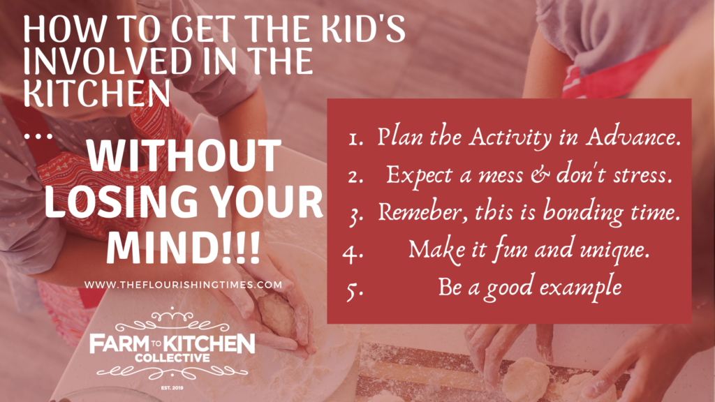 This is a simple 5 step process for getting your children involved in the kitchen