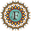This is a fall mandala with the Flourishing Fern F logo in the center